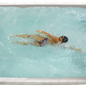 Premium Leisure Swim Spa Woman Swimming