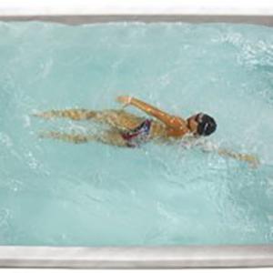 Premium Leisure Swim Spa Woman Swimming