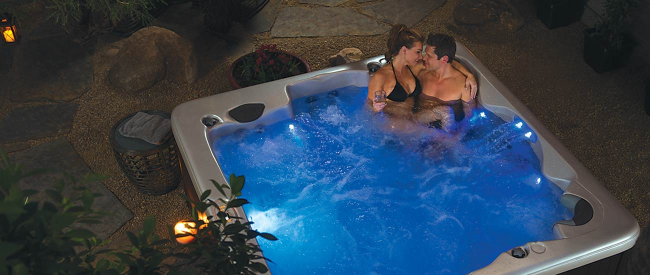 Vita Spa Hot Tubs Couple Relaxing