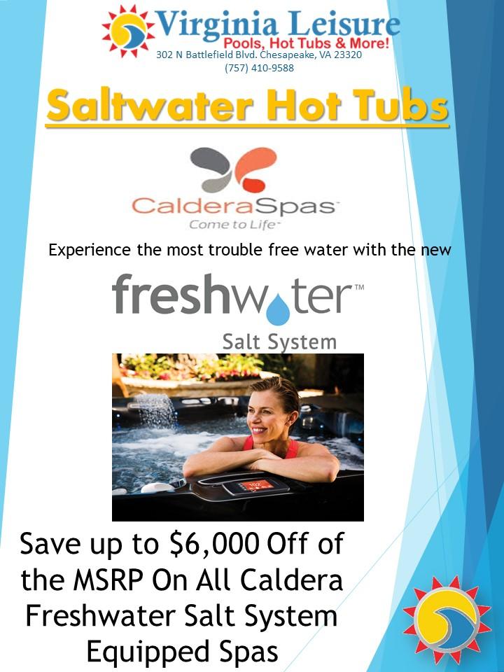 Caldera Spas Freshwater Salt System Hot Tubs