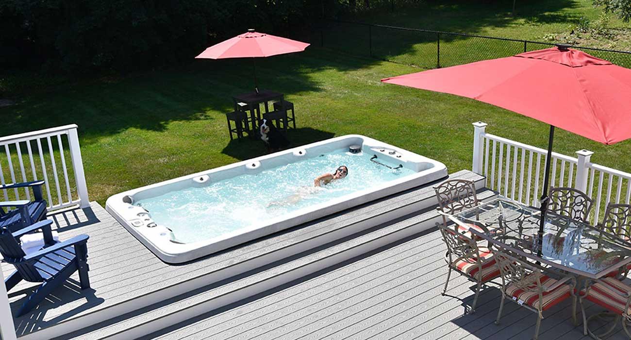 PowerPool Swim Spa Backyard Exercise