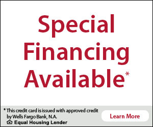 Special Financing Available by Wells Fargo